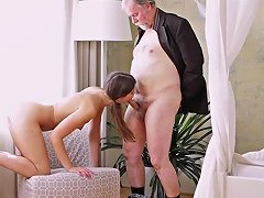 Sexy Czech Teen Girl Having Sex With Old Man For Helping With Her Car