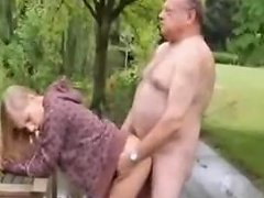 Cute Girl Fucked By Old Dirty Man