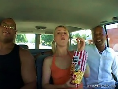 Teen Blonde Sharon Wild Loves To Get Interracially Gangbanged By Big Cocks