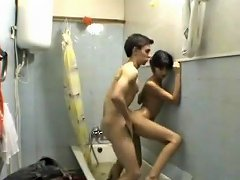 Not Brather And Not Sister In Bathroom